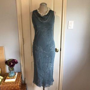 Banana Republic Slip Midi dress heather gray